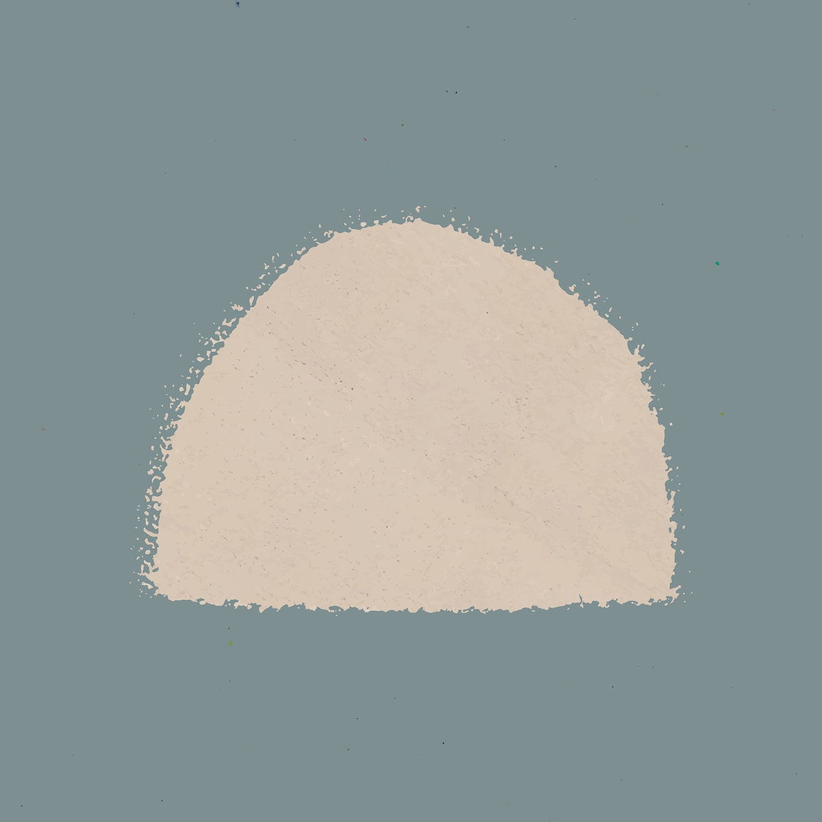 Hand drawn solid beige semicircle watercolor element vector