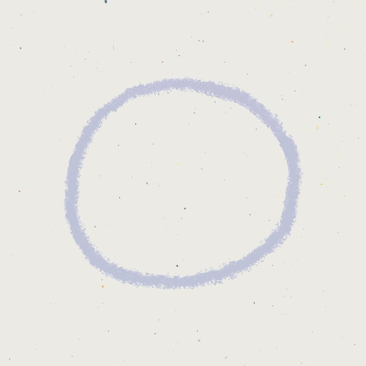 Purple ring hand drawn vector