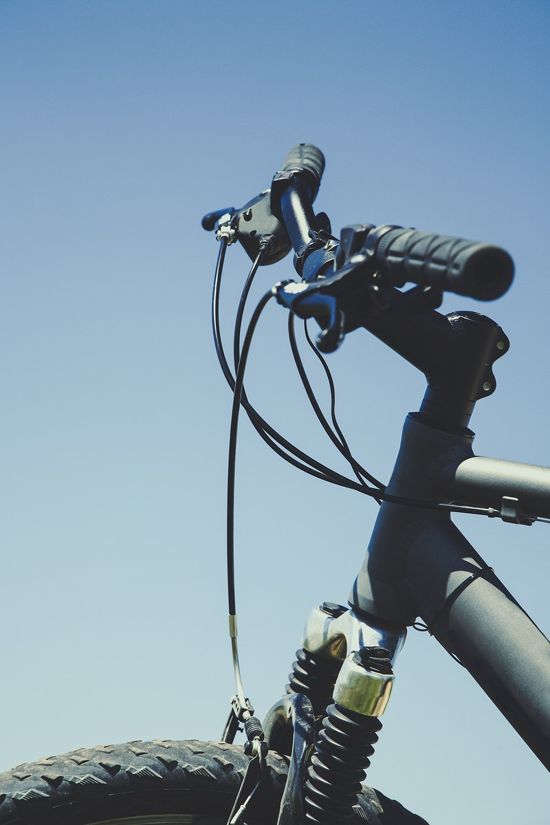 Handle bars of a mountain bike