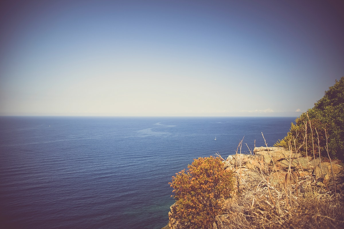 Cliff by a beautiful sea