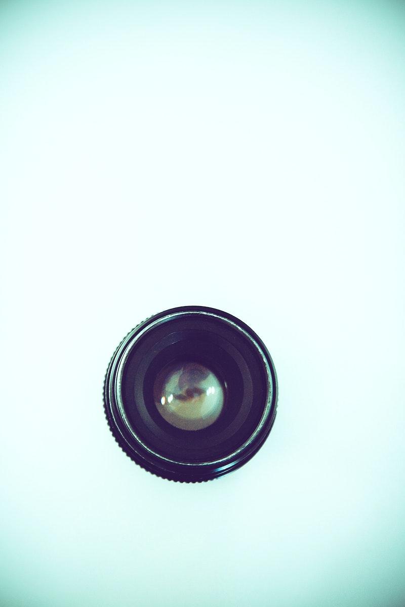 Close up of a camera a lens