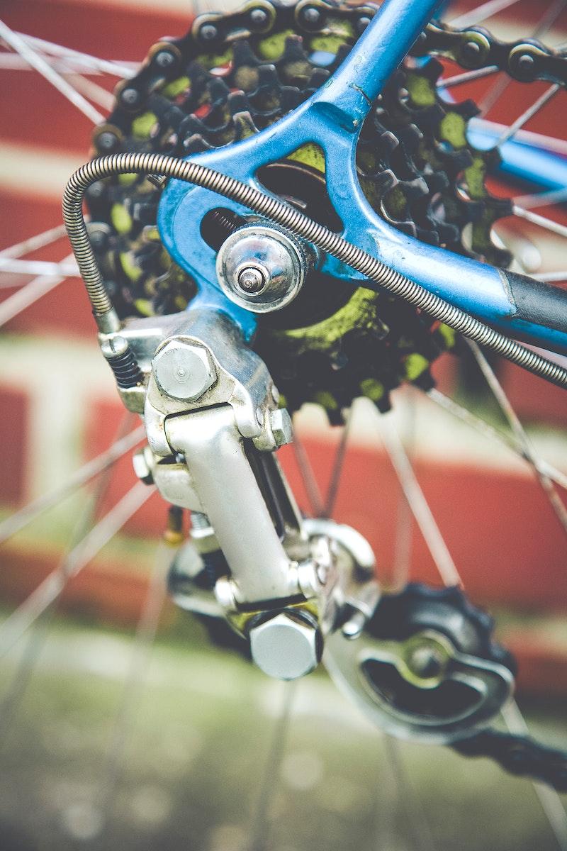 Close of up bike gears