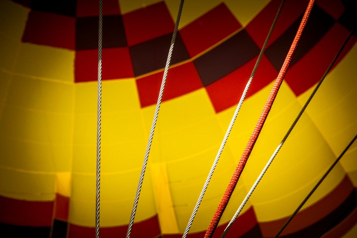 Close up of a parachute