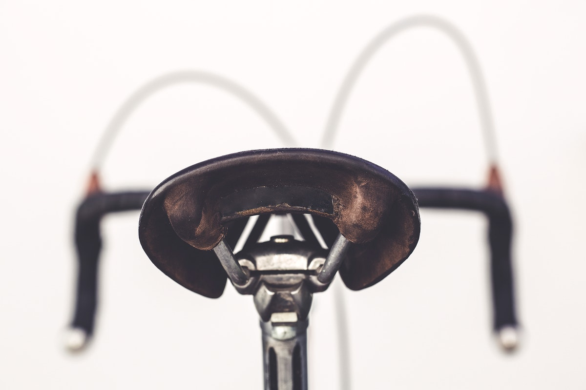 Close up of a bike seat