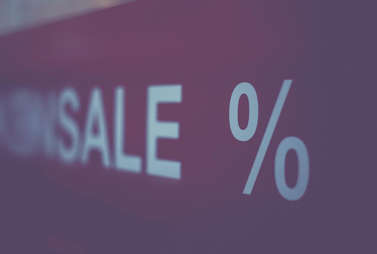 Sale at a big store