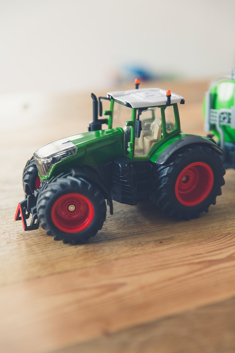 Small plastic toy truck