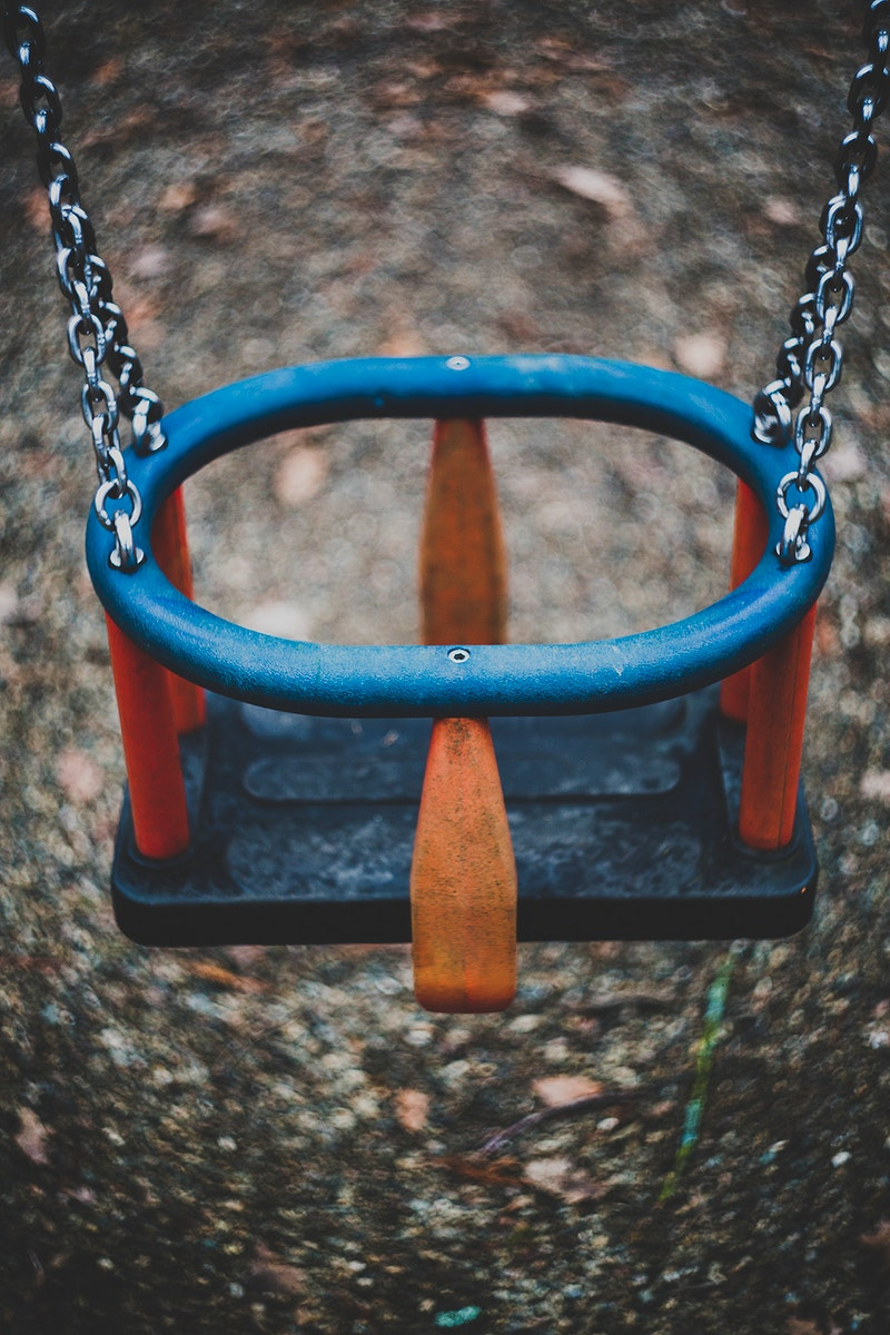 A swing at a playground