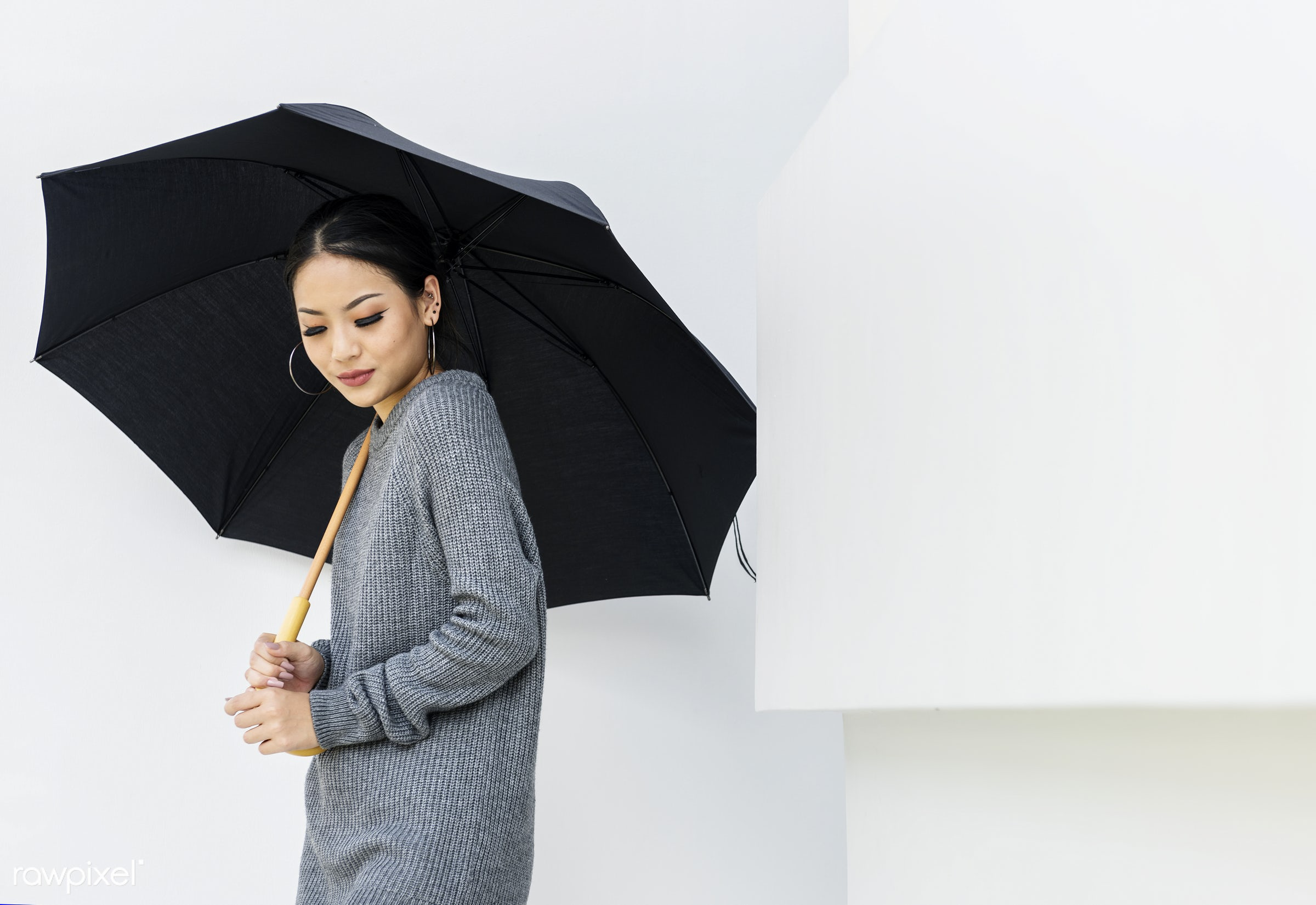 asian, background, casual, fashion, girl, lady, leisure, lifestyle, minimal, portrait, raining, season, style, teen, trendy...