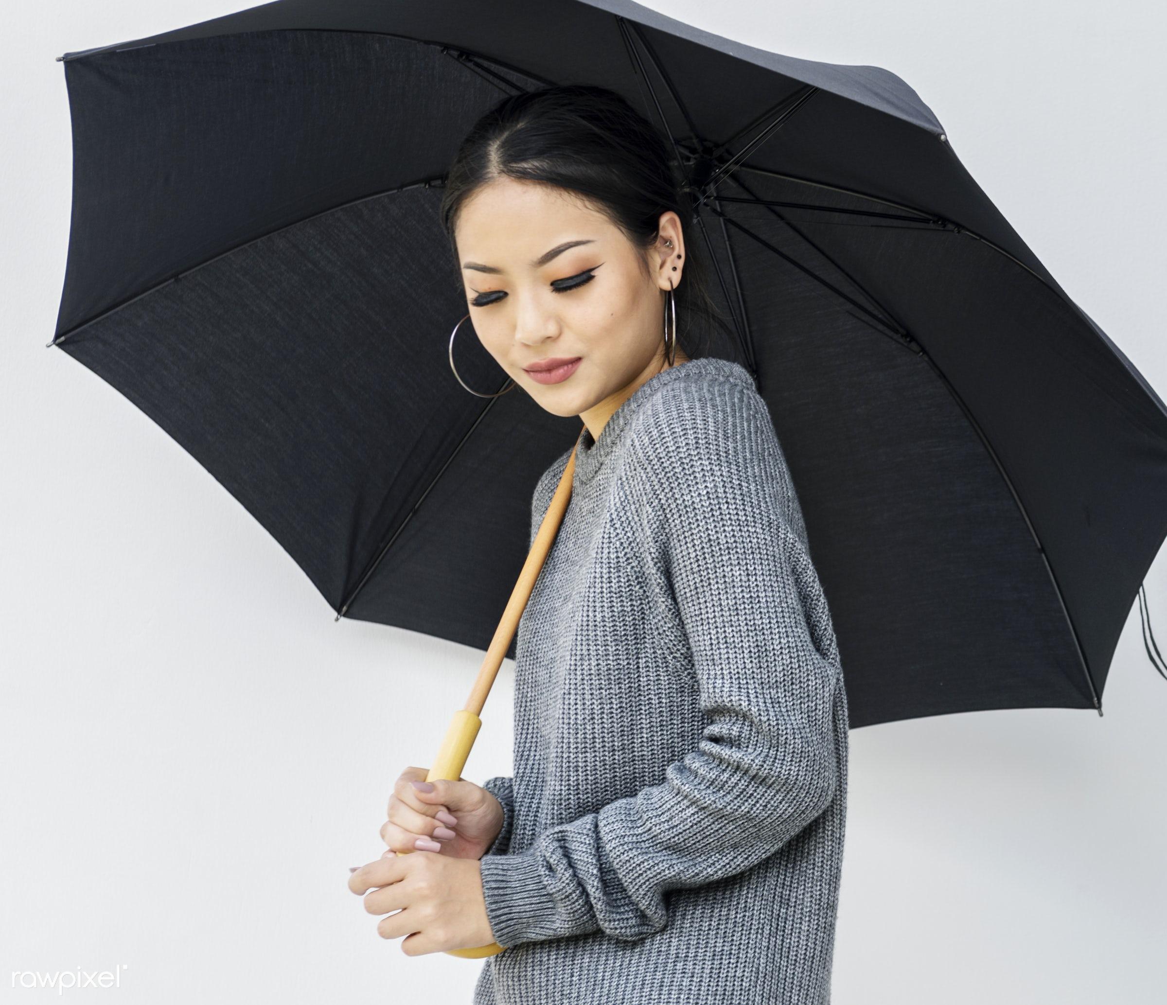 fashion, asian, background, casual, girl, lady, leisure, lifestyle, minimal, portrait, raining, season, style, teen, trendy...