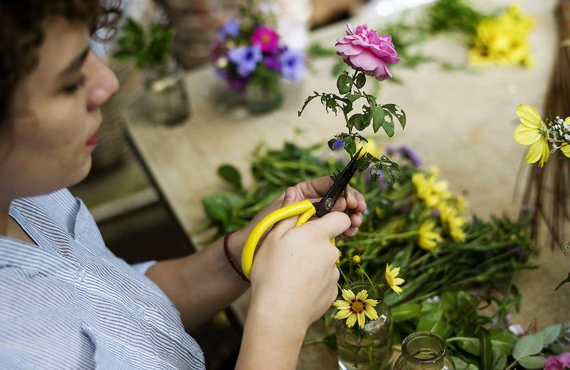 Fresh flowers decoration arrangement
