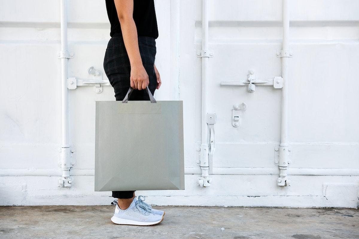 Design space on blank paper bag