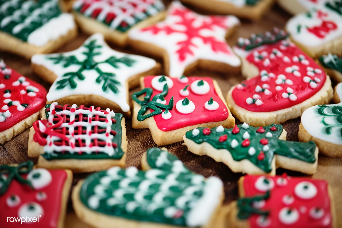 A Bunch Of Christmas Themed Cookies Free Stock Photo 291787