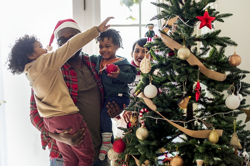 a black family enjoying christmas holiday african african american african descent asian - Black Family Christmas Pictures