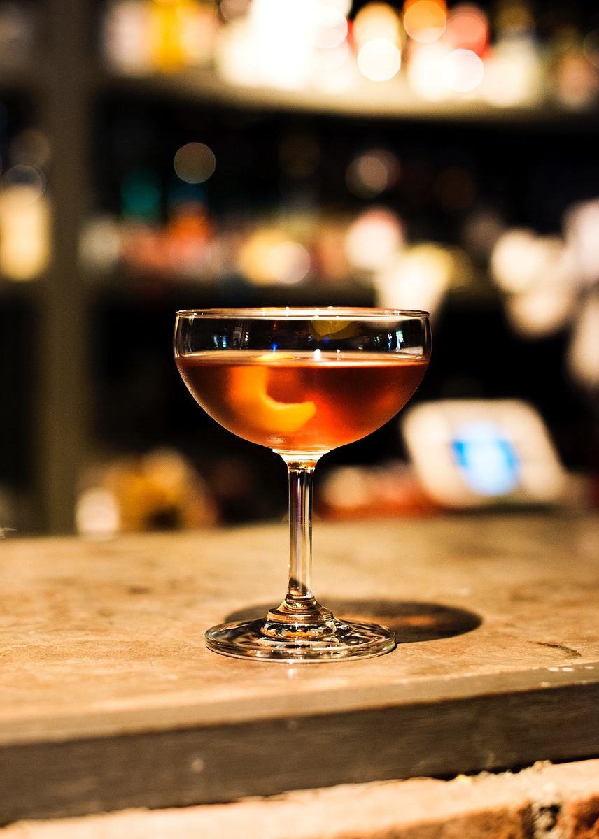 Martini drink in a night club