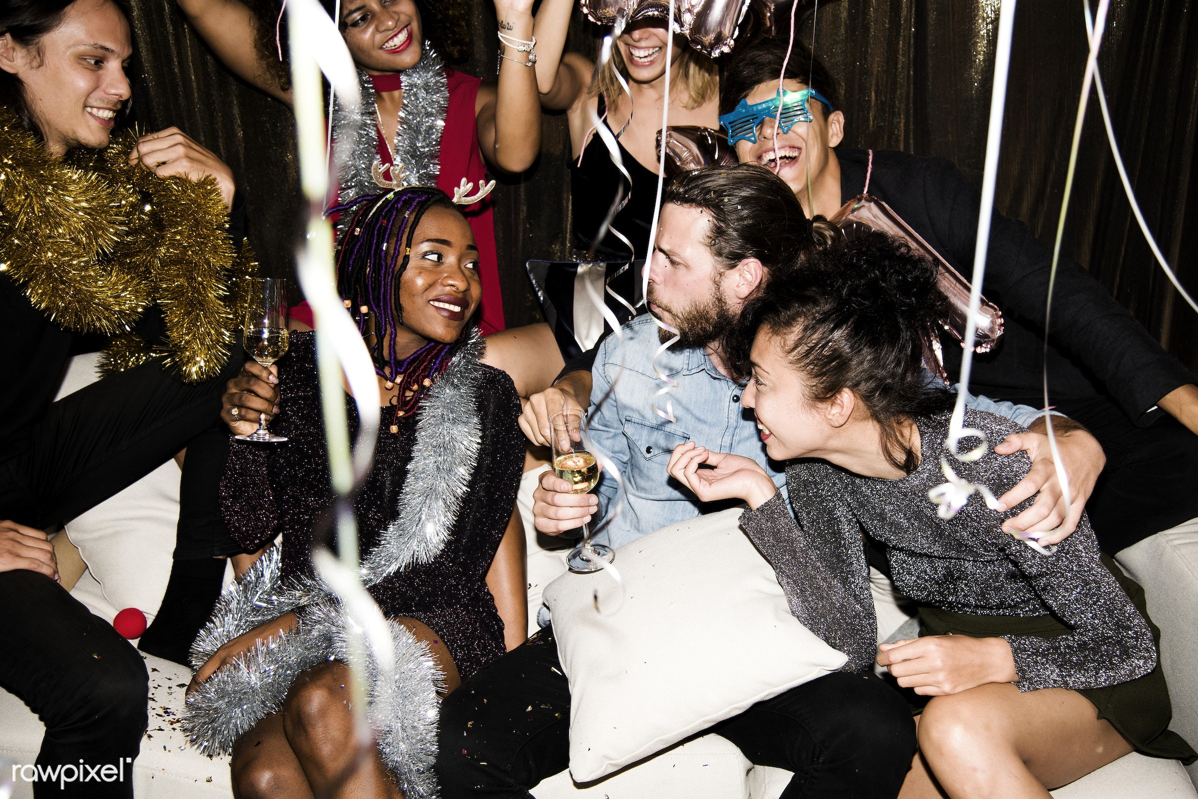 People enjoying a party - 2018, african american, african descent, birthday, birthday party, black, caucasian, celebrate,...