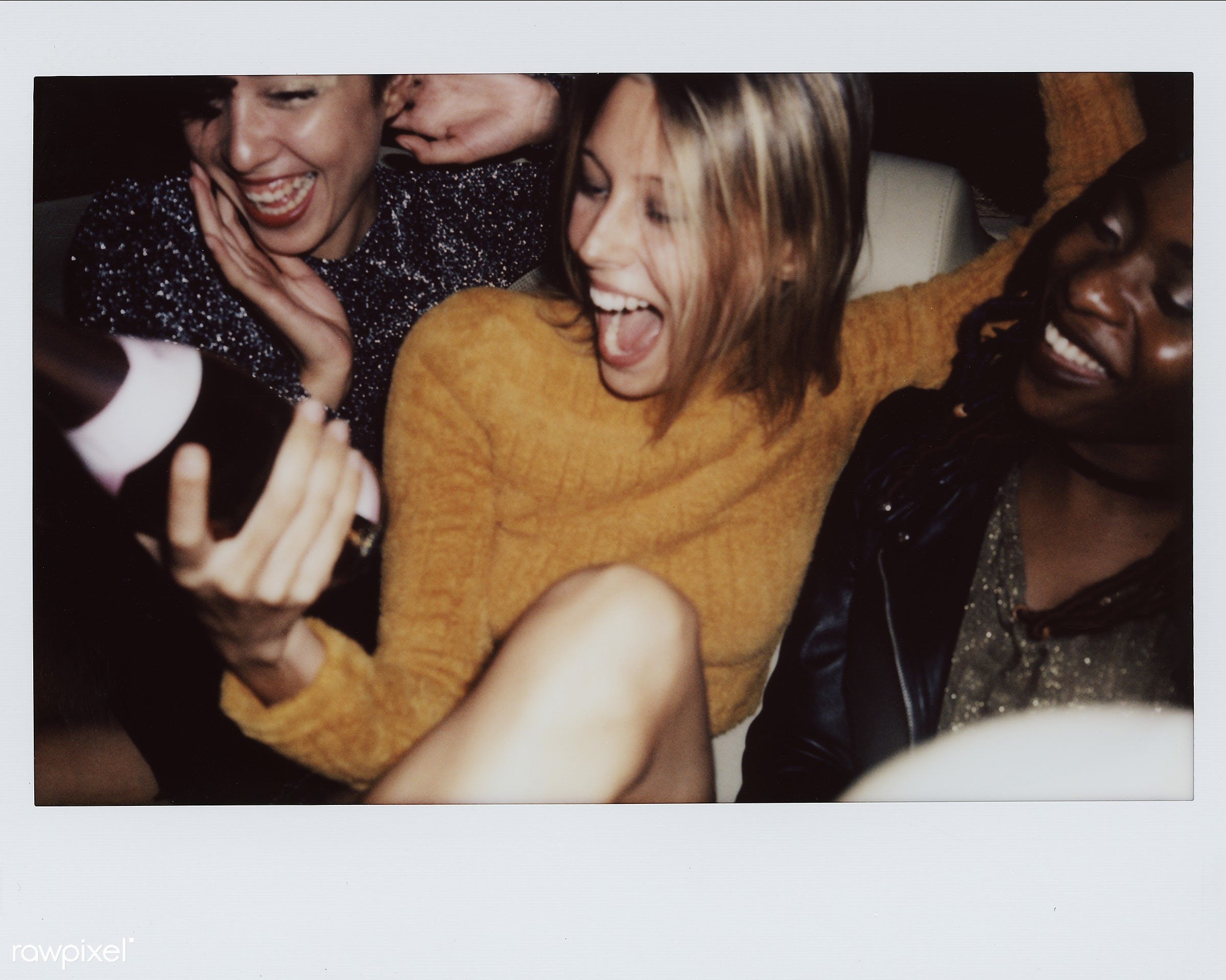 People enjoying a party - 2018, african american, african descent, backseat, beverage, birthday, birthday party, black, cab...