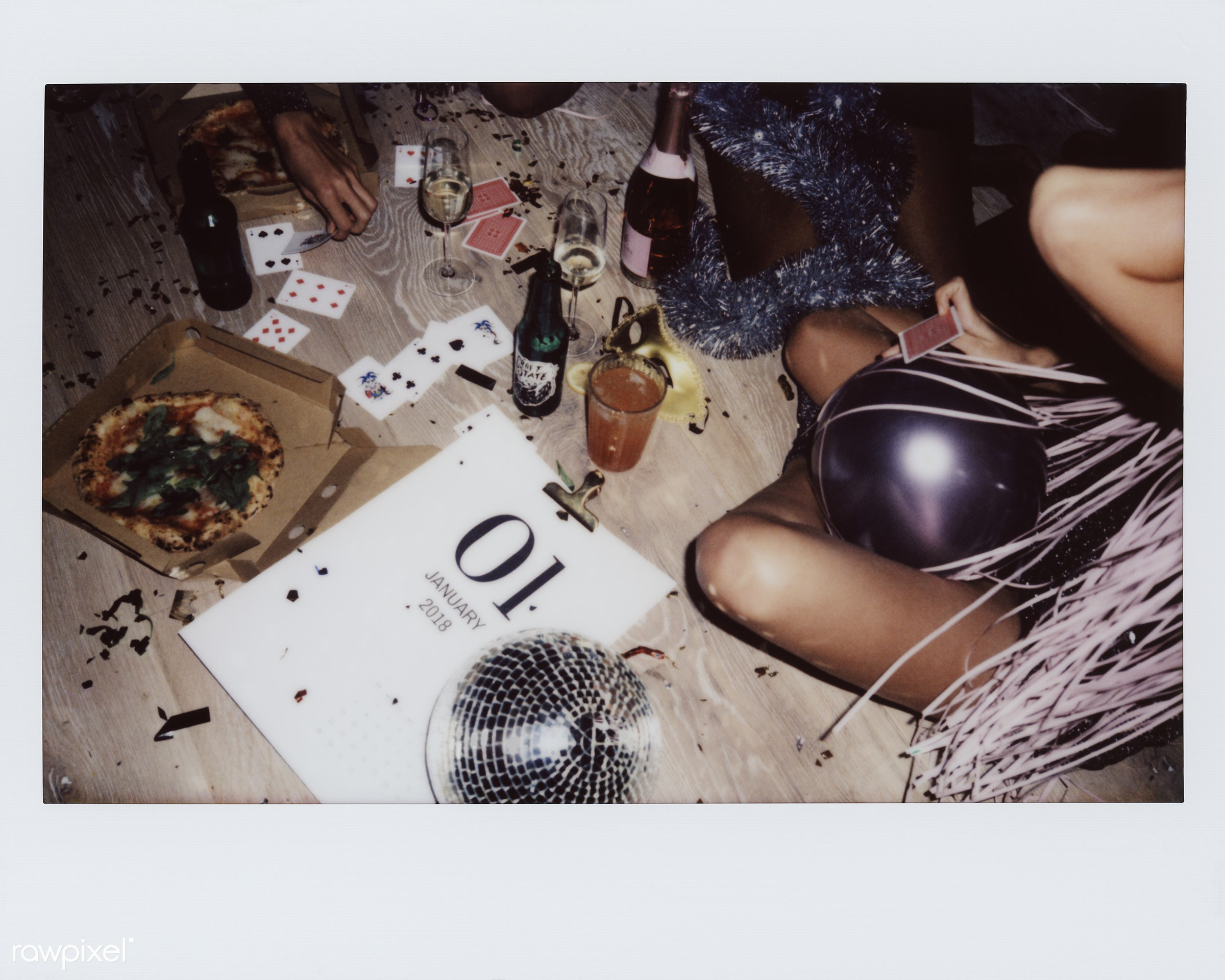 People enjoying a party together - food, game, new year, pizza, birthday, 2018, beverage, birthday party, calendar, cards,...