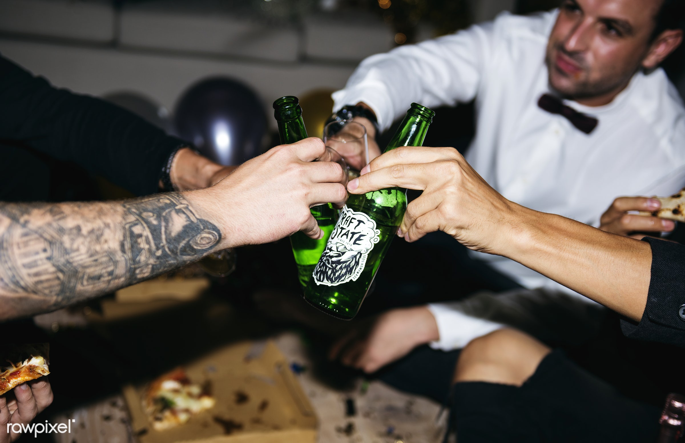 People celebrating in a party - 2018, alcohol, beers, beverage, birthday, celebrate, celebration, cheers, diverse, drink,...
