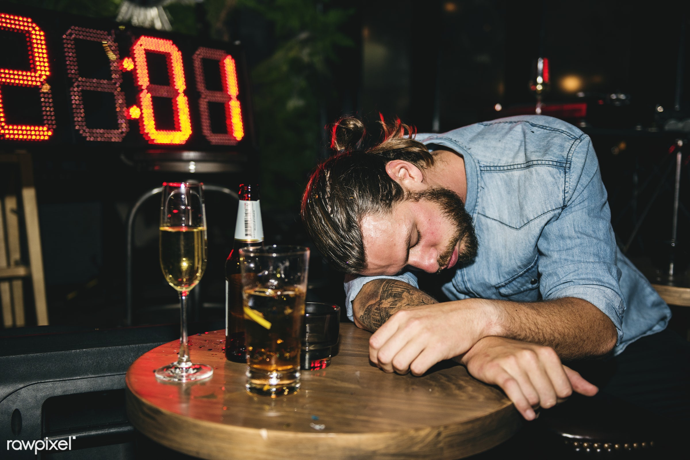 Drunk people in a party - 2018, after party, alcohol, alone, bar, beverage, caucasian, celebrate, celebration, club,...