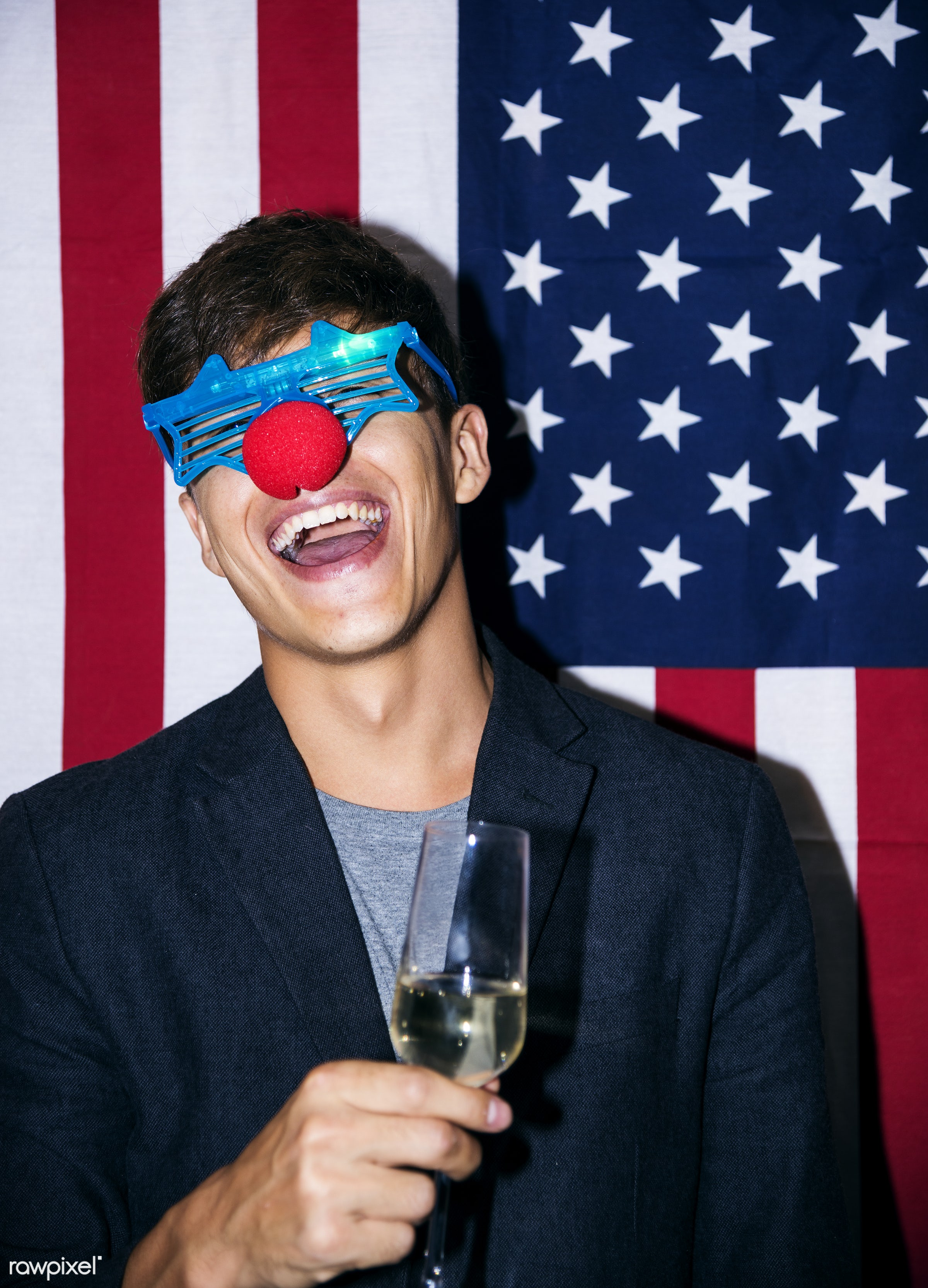People having fun in a party - 2018, alcohol, alone, american flag, beverage, birthday, birthday party, caucasian, celebrate...
