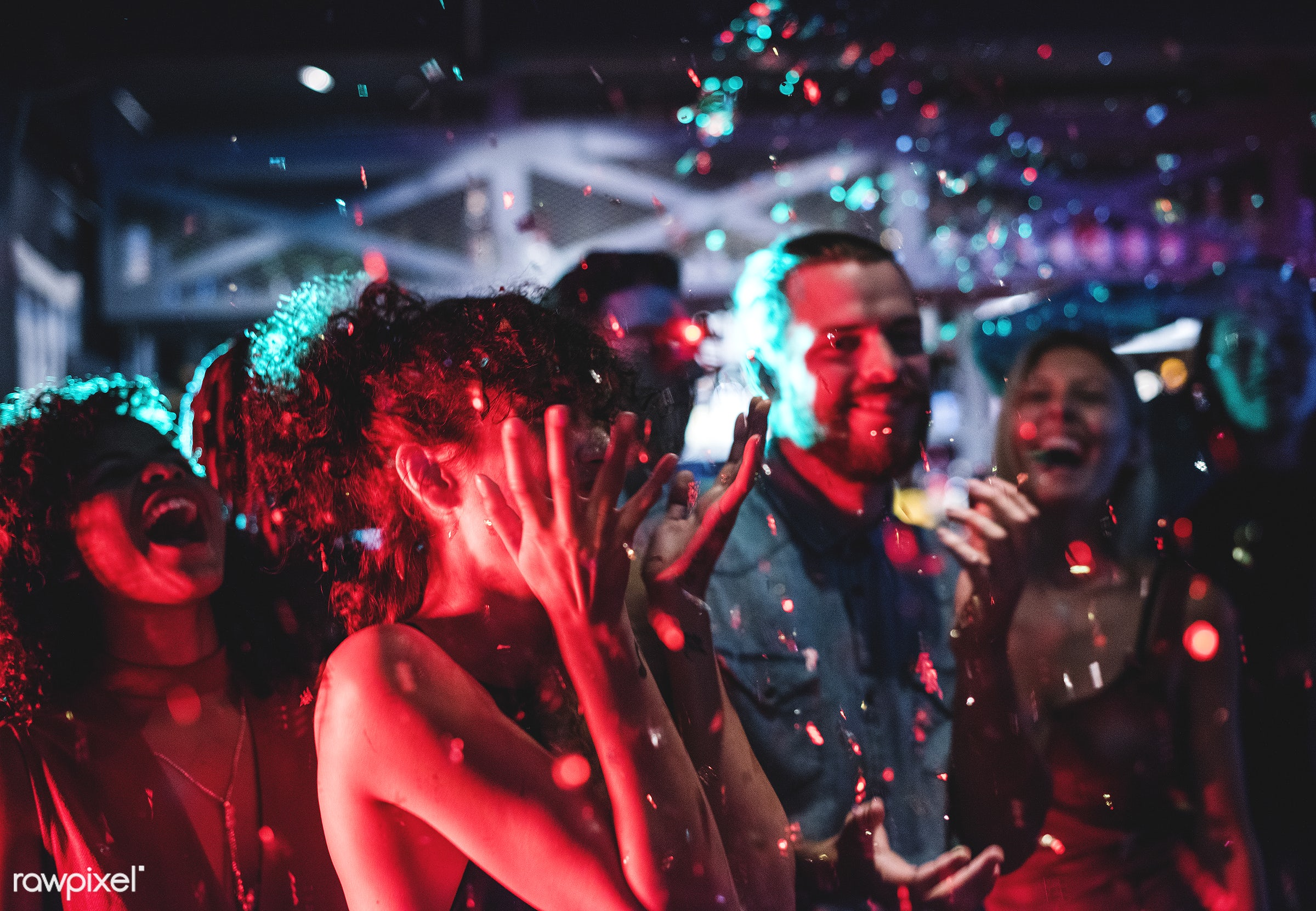 People enjoying a party with friends - party, club, fun, african descent, celebrate, 2018, african american, birthday,...