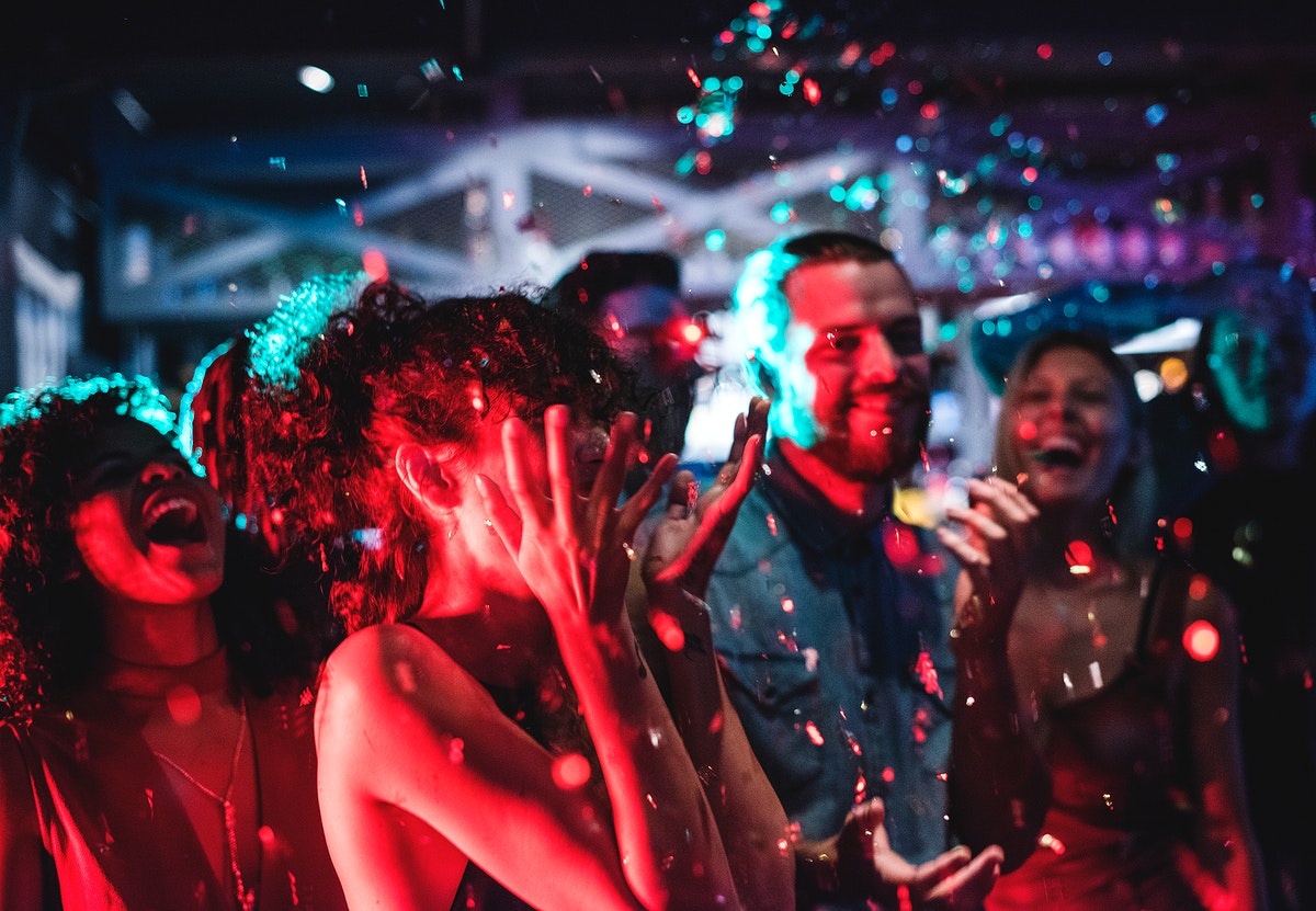 People enjoying a party with friends