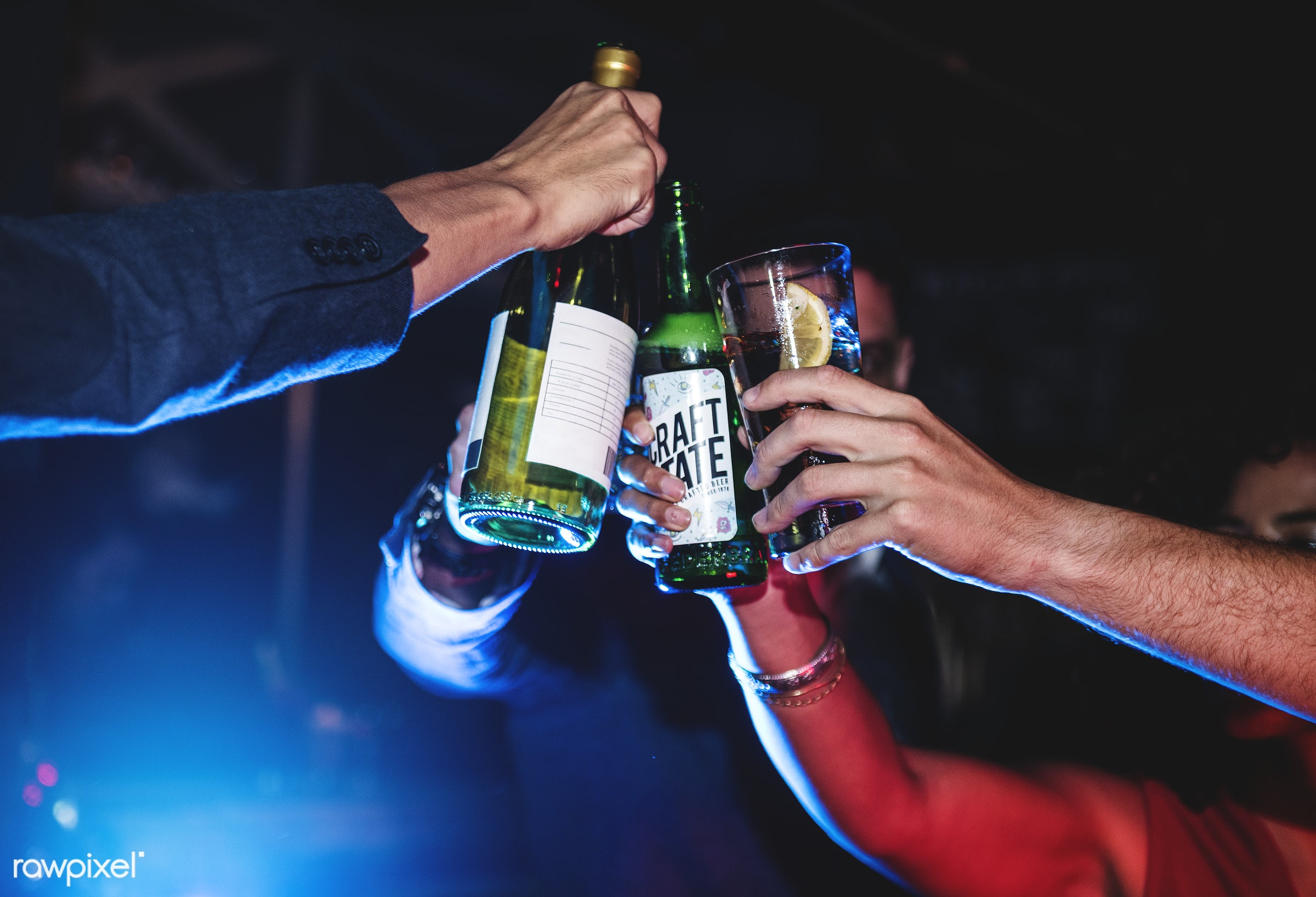 People celebrating in a party - 2018, alcohol, beers, beverage, birthday, celebrate, celebration, cheers, drink, drinks,...