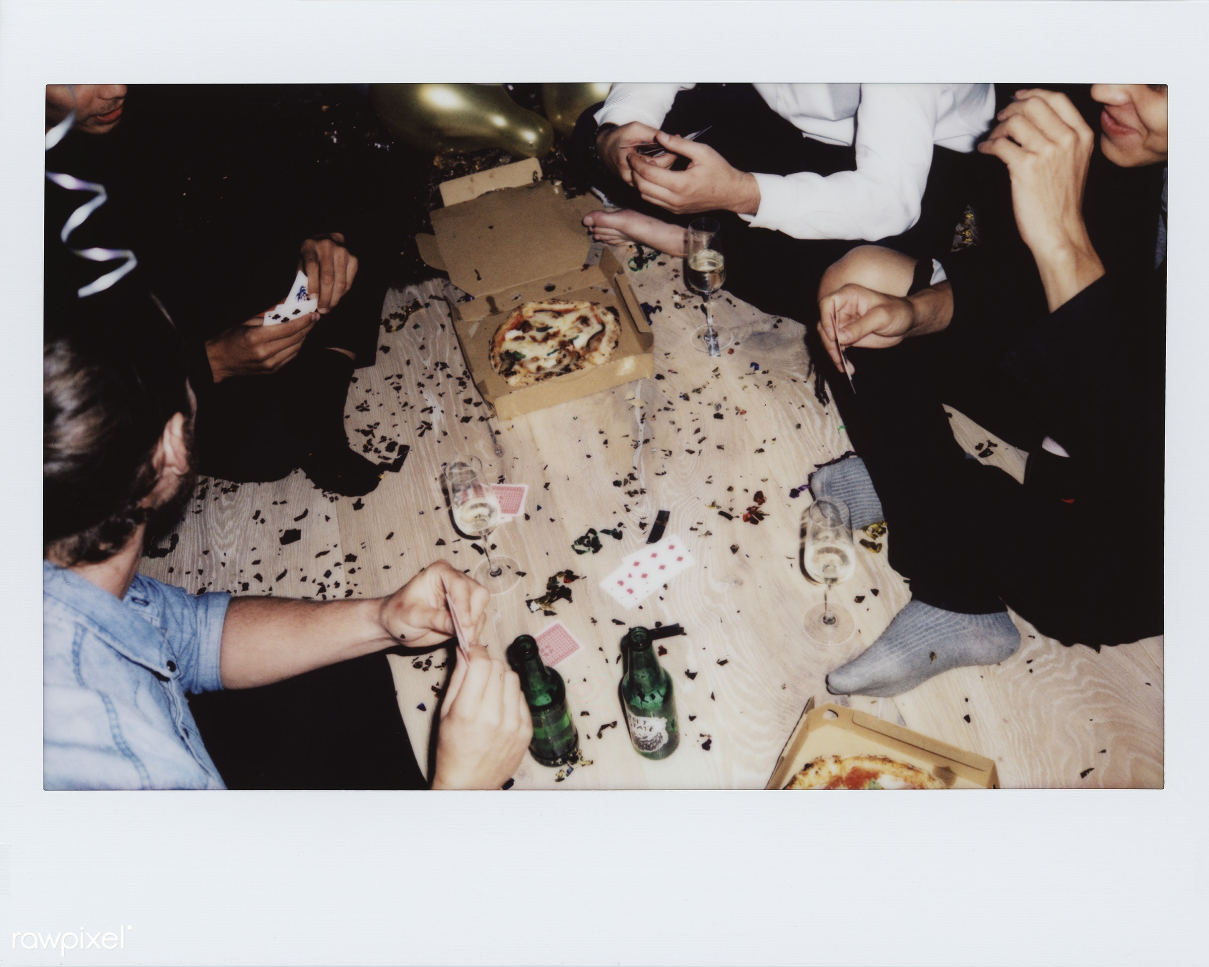 People enjoying a party - 2018, beer, beverage, birthday, birthday party, cards, cards game, caucasian, celebrate,...