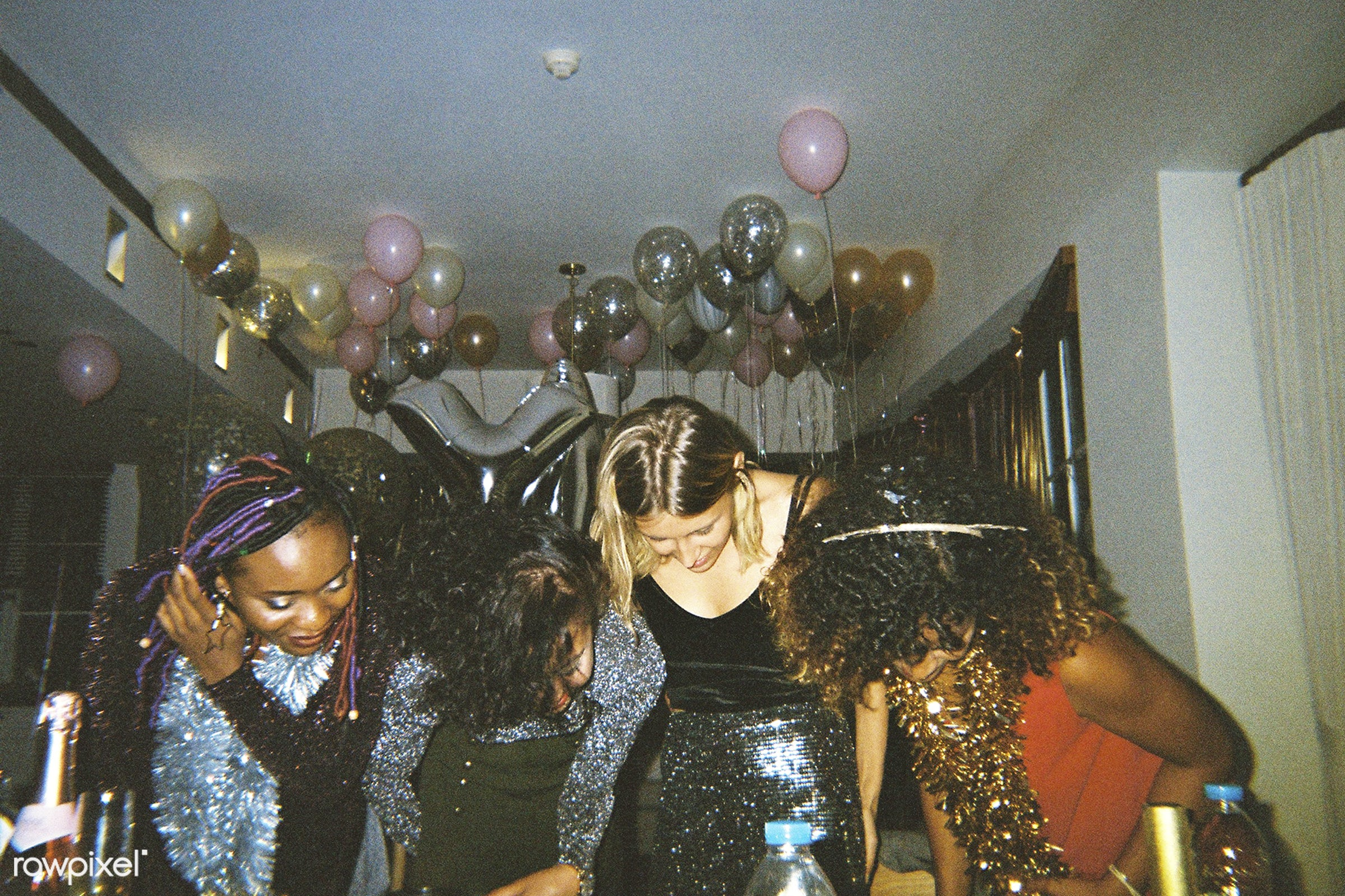 People enjoying a party - 2018, african american, african descent, balloons, birthday, birthday party, black, caucasian,...