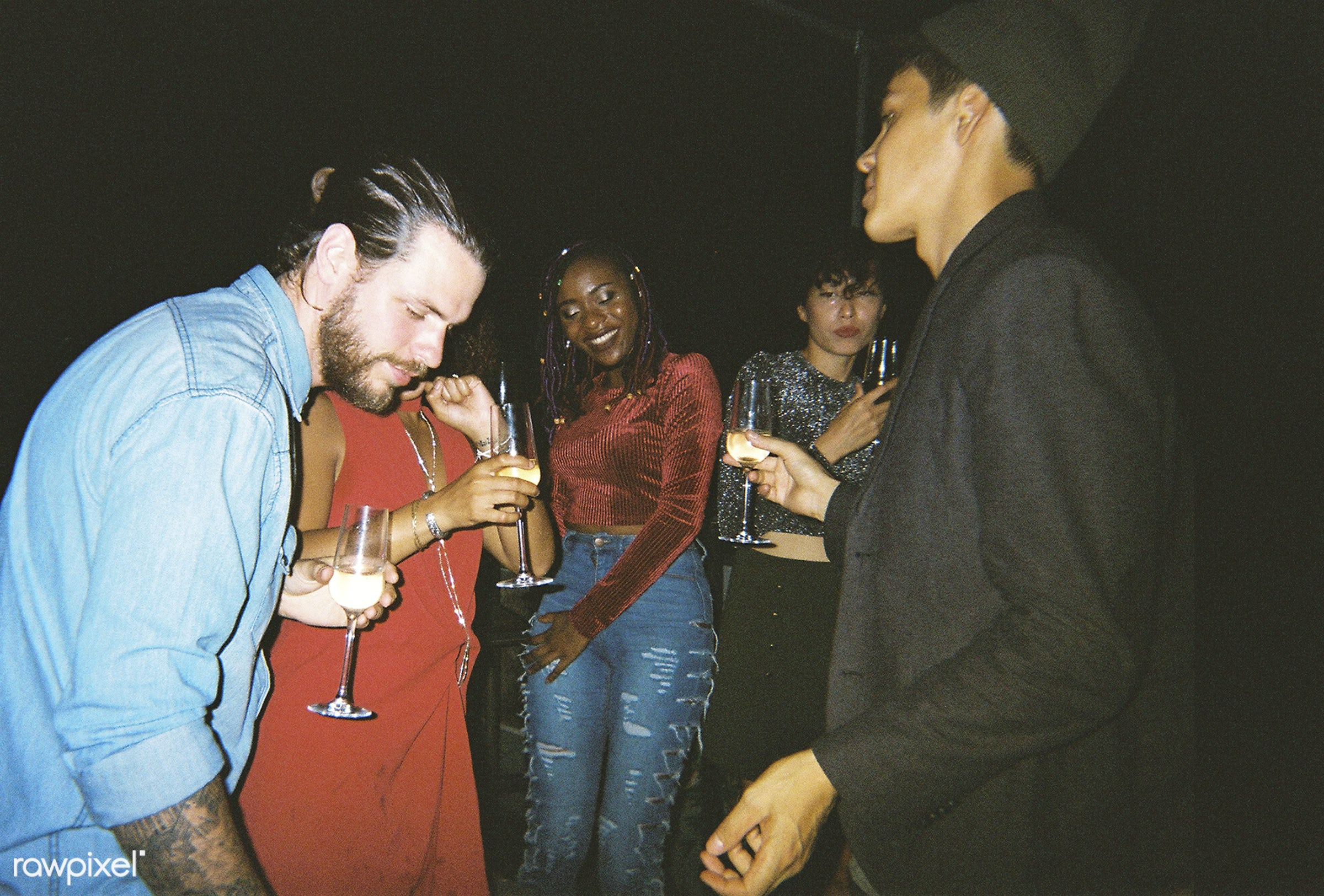 People enjoying a party - 2018, african american, african descent, beverage, birthday, birthday party, black, caucasian,...