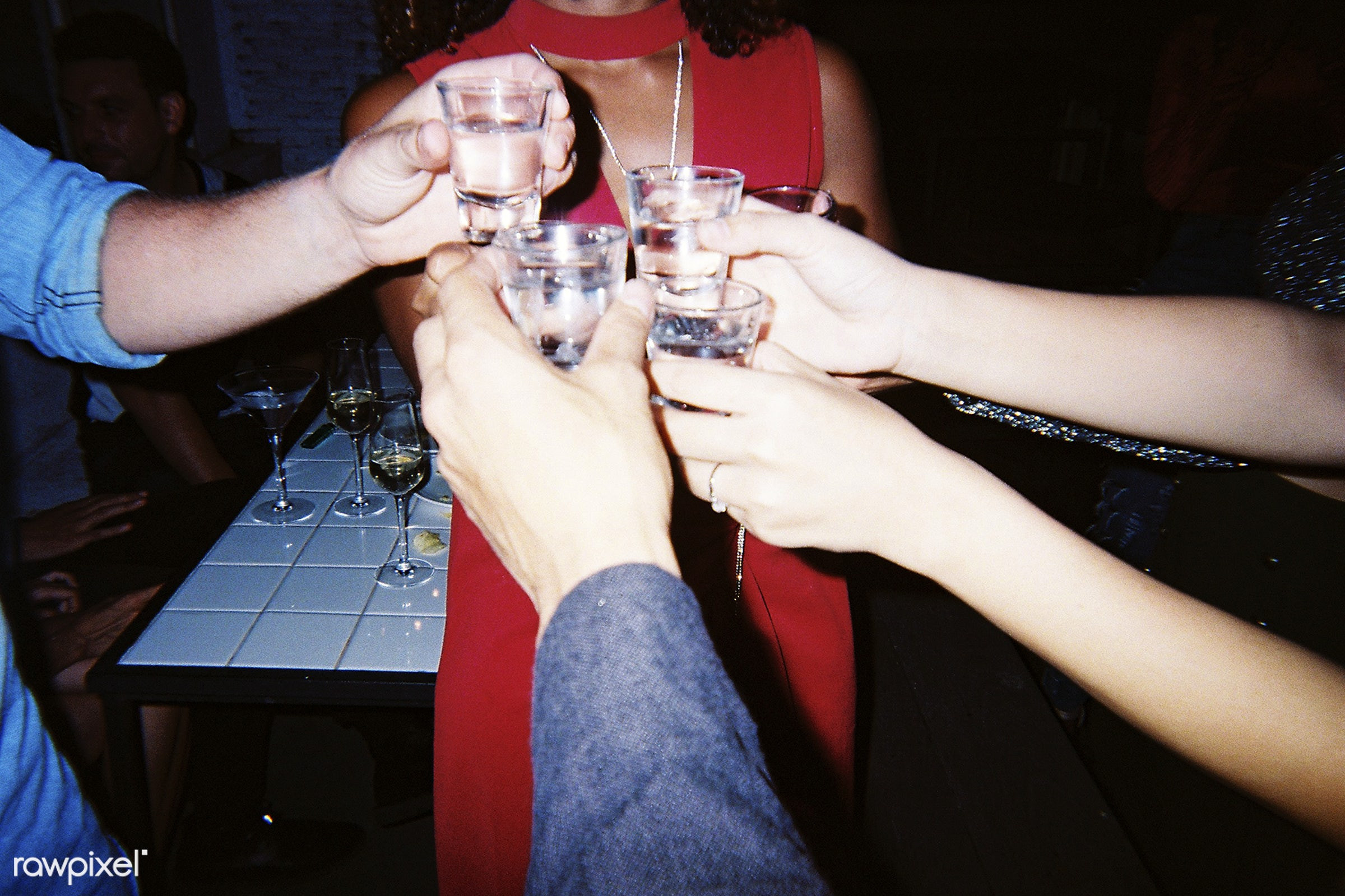 People celebrating in a party - vodka, 2018, alcohol, beers, beverage, birthday, celebrate, celebration, cheers, club, drink...