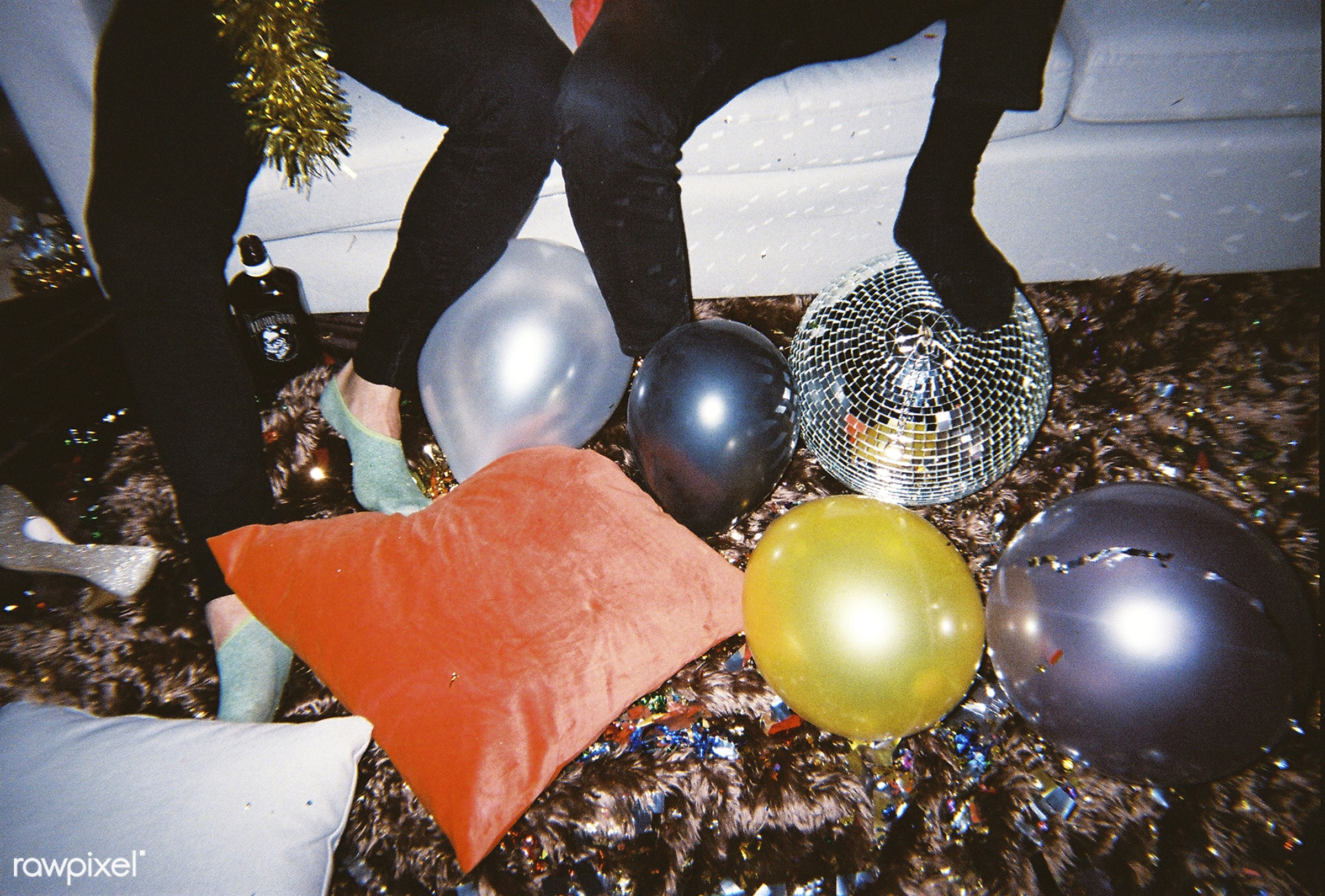 People enjoying a party - 2018, balloons, birthday, birthday party, celebrate, celebration, disco ball, festive, friends,...
