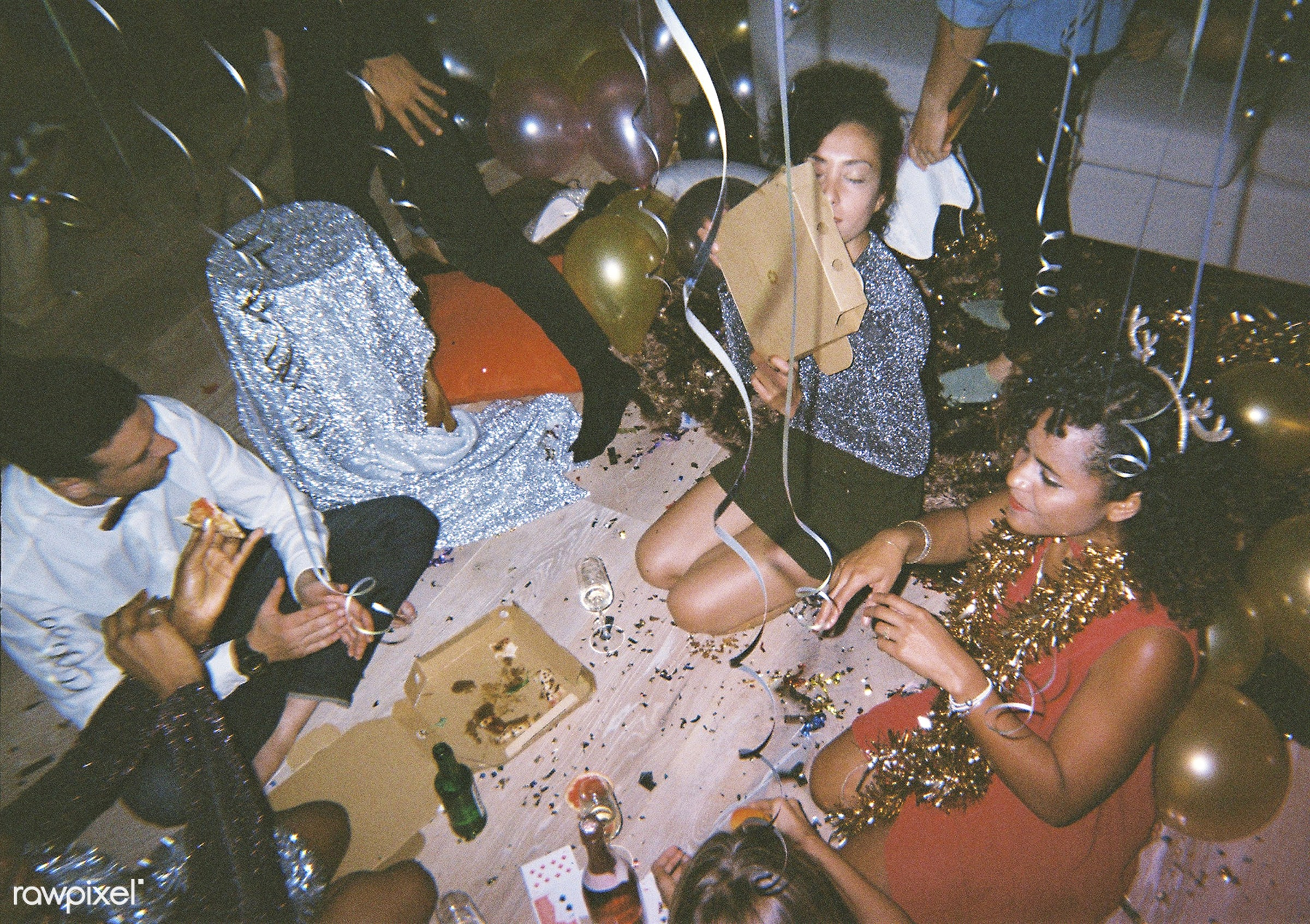 People enjoying a party - 2018, balloons, birthday, birthday party, caucasian, celebrate, celebration, diverse, festive,...