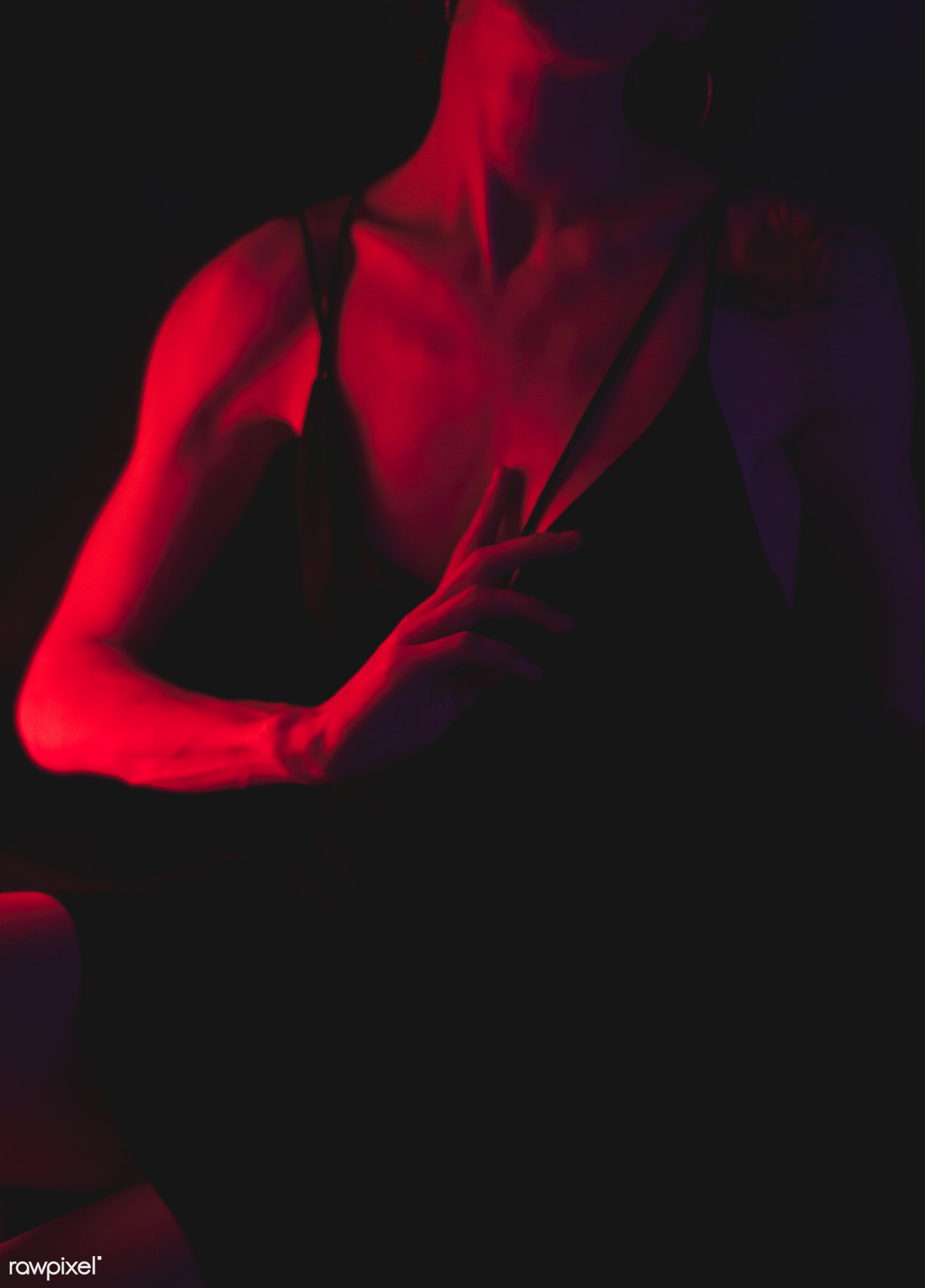 Sensual portrait of a woman - alone, bar, dark, lifestyle, night, night life, night out, one, people, person, portrait, pub...