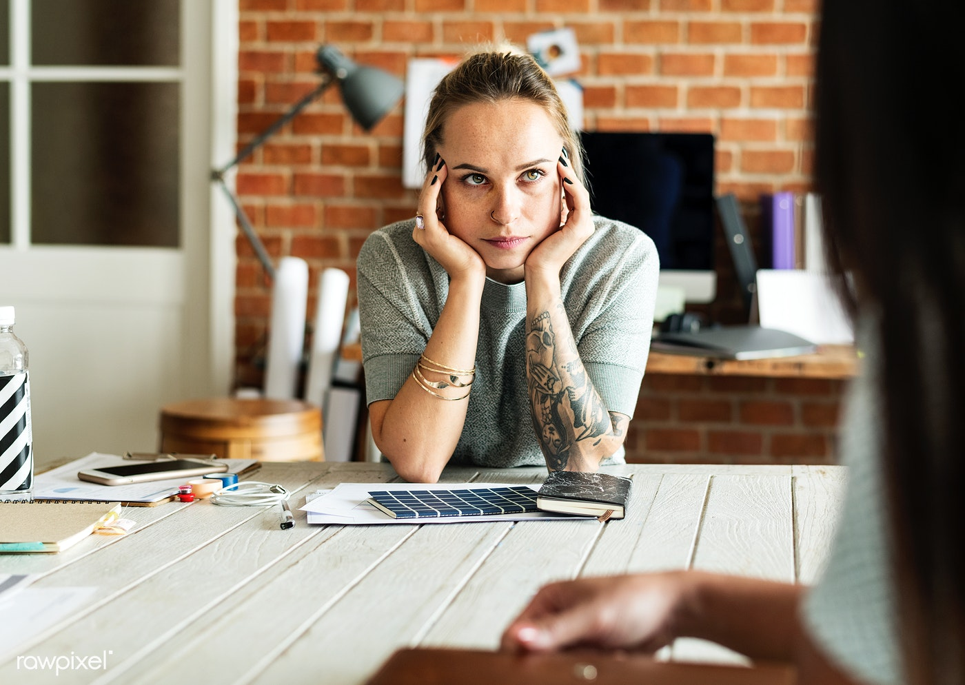 Woman thinking, getting back on track