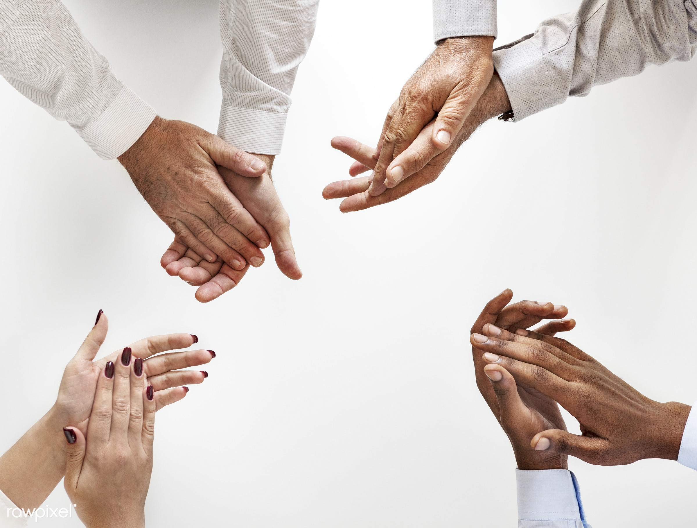 business people clapping hands together id 380094