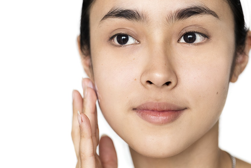 rub face serum in small circles