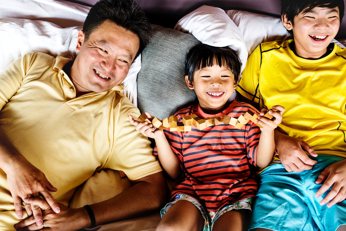 Asian family on a holiday