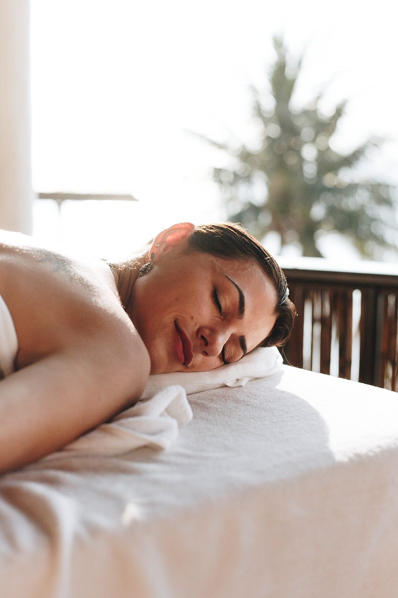 Woman relaxing with a spa treatment