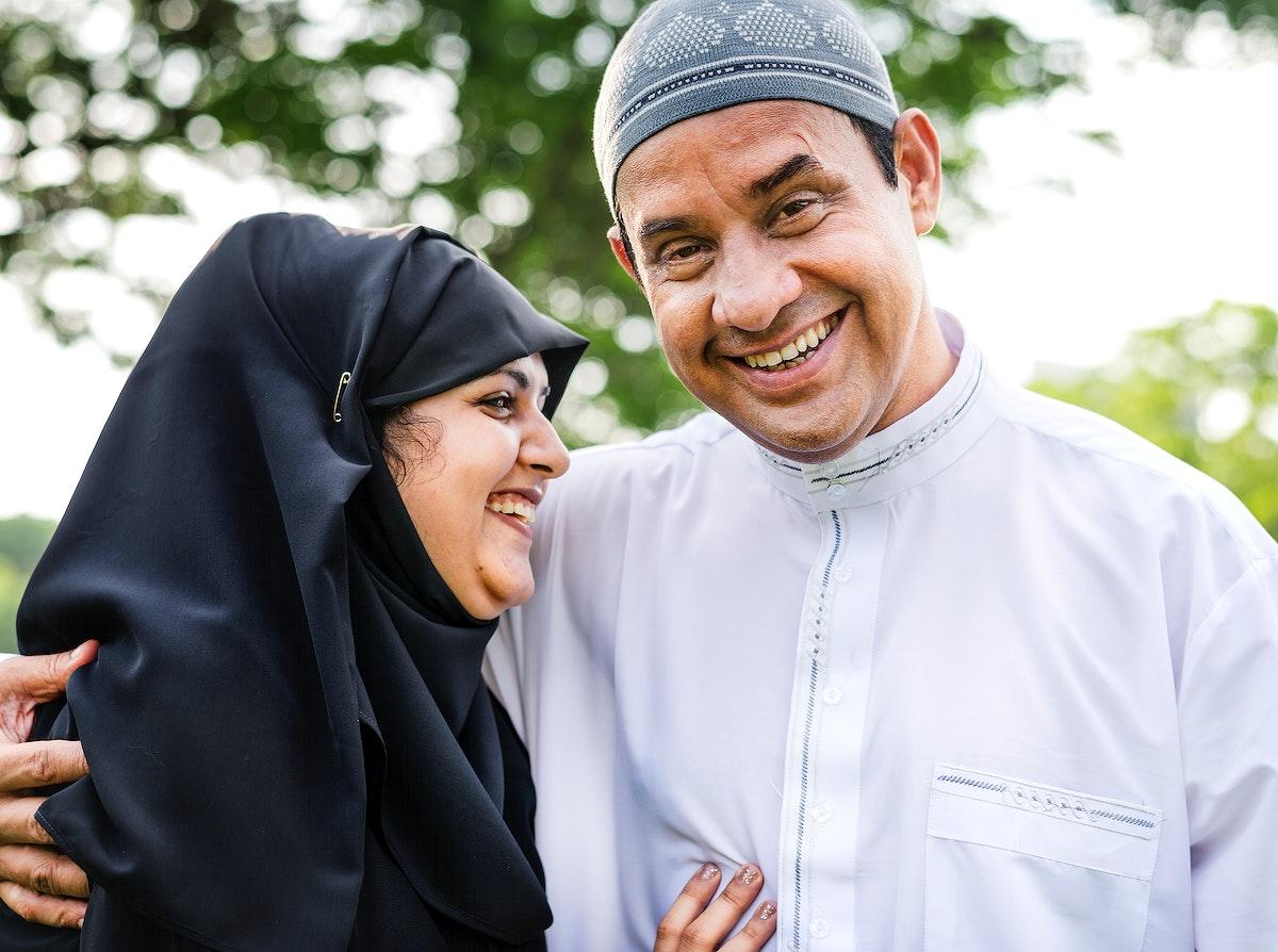 Sweet Muslim husband and wife