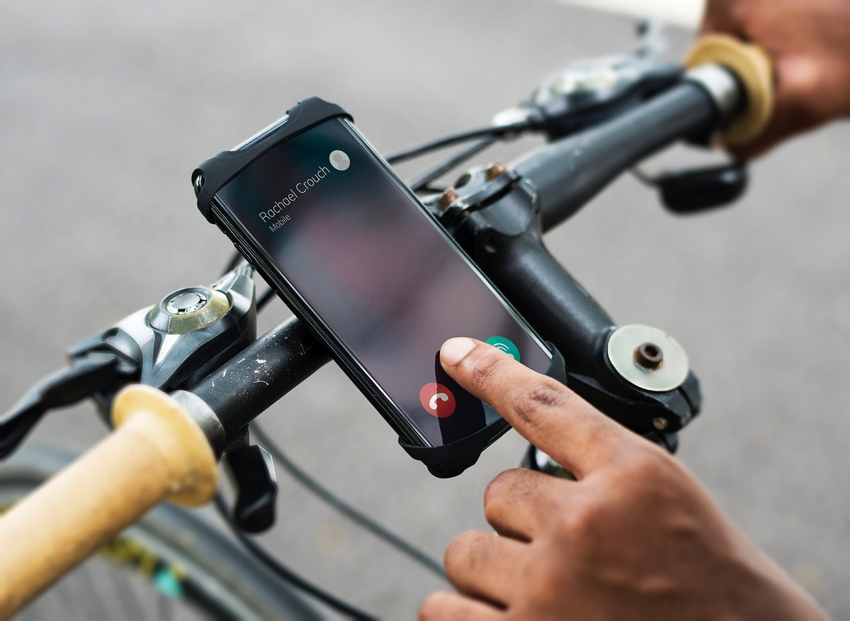 Calling to a phone while riding a bike