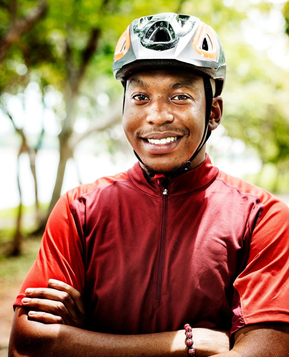 Portrait of male cyclist