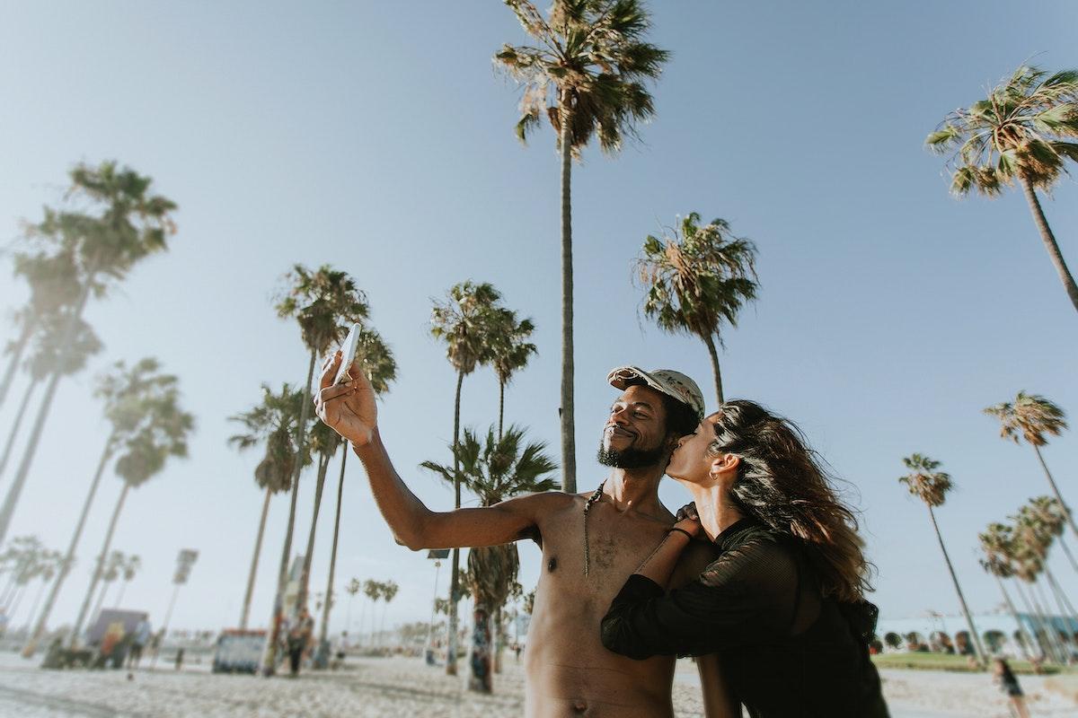 Cool couple at Venice Beach