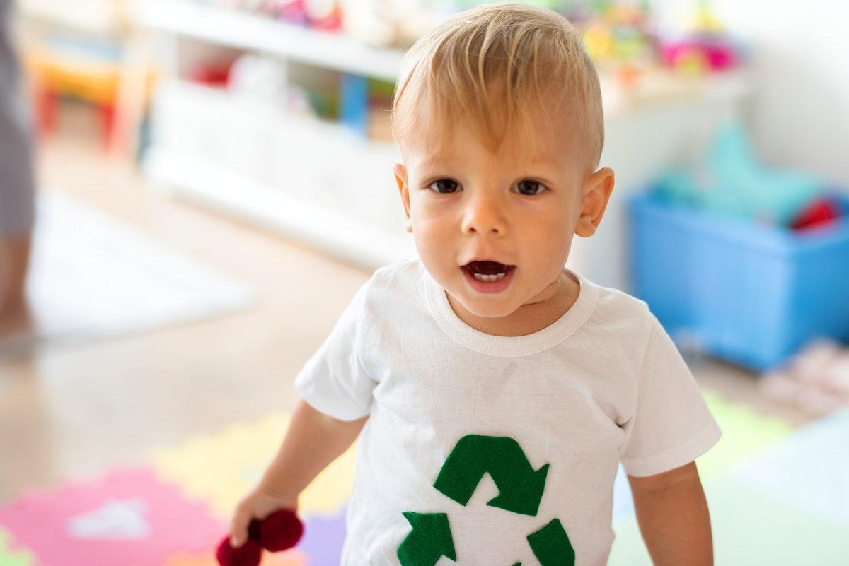 Environmental boy in a playroom