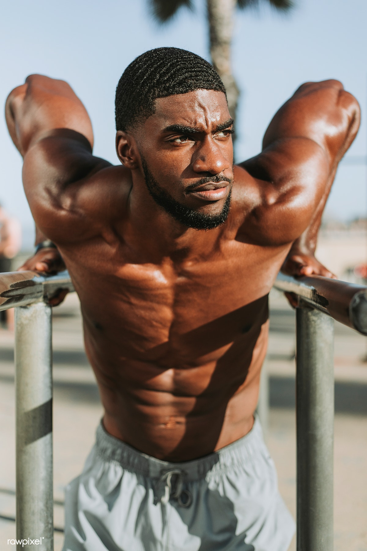 56c7978099 Fit black man working out   Royalty free stock photo - 474039