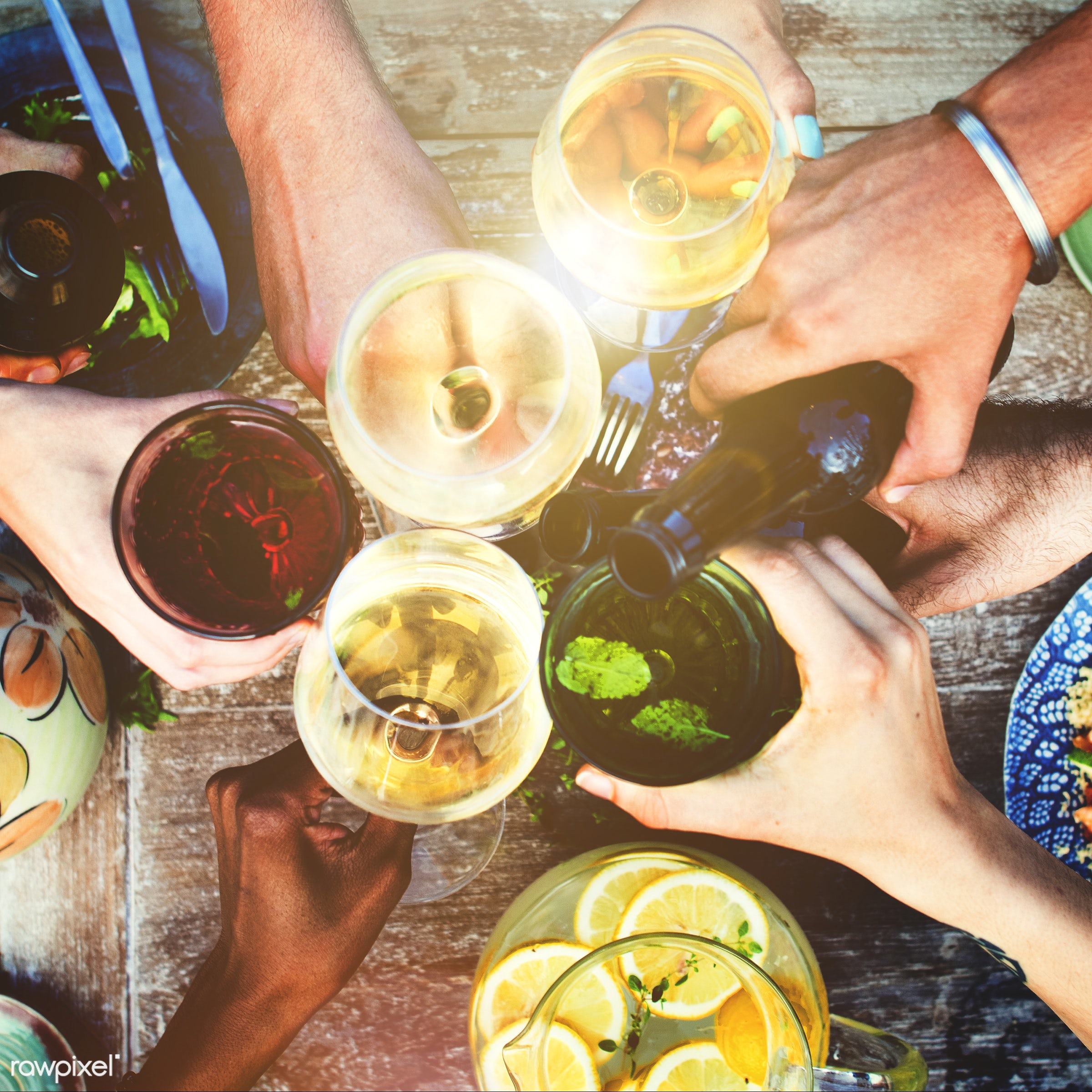beer, aerial view, allspice, beverage, bowl, champagne, cheers, color, colorful, cook, cuisine, delicious, dinner, drink,...