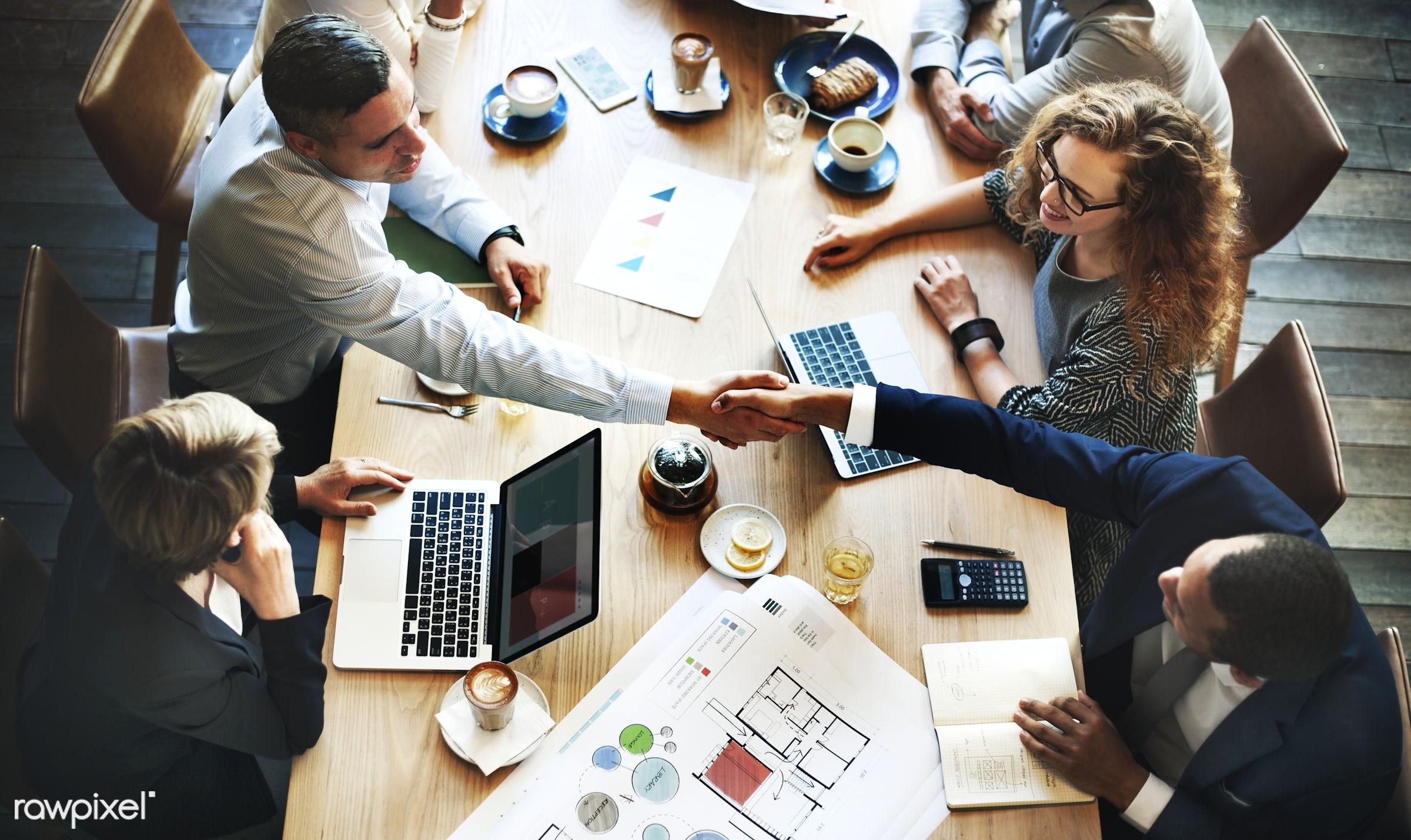 agreement, analysis, architecture, blueprint, brainstorming, business, business people, businessmen, businesswomen, cafe,...