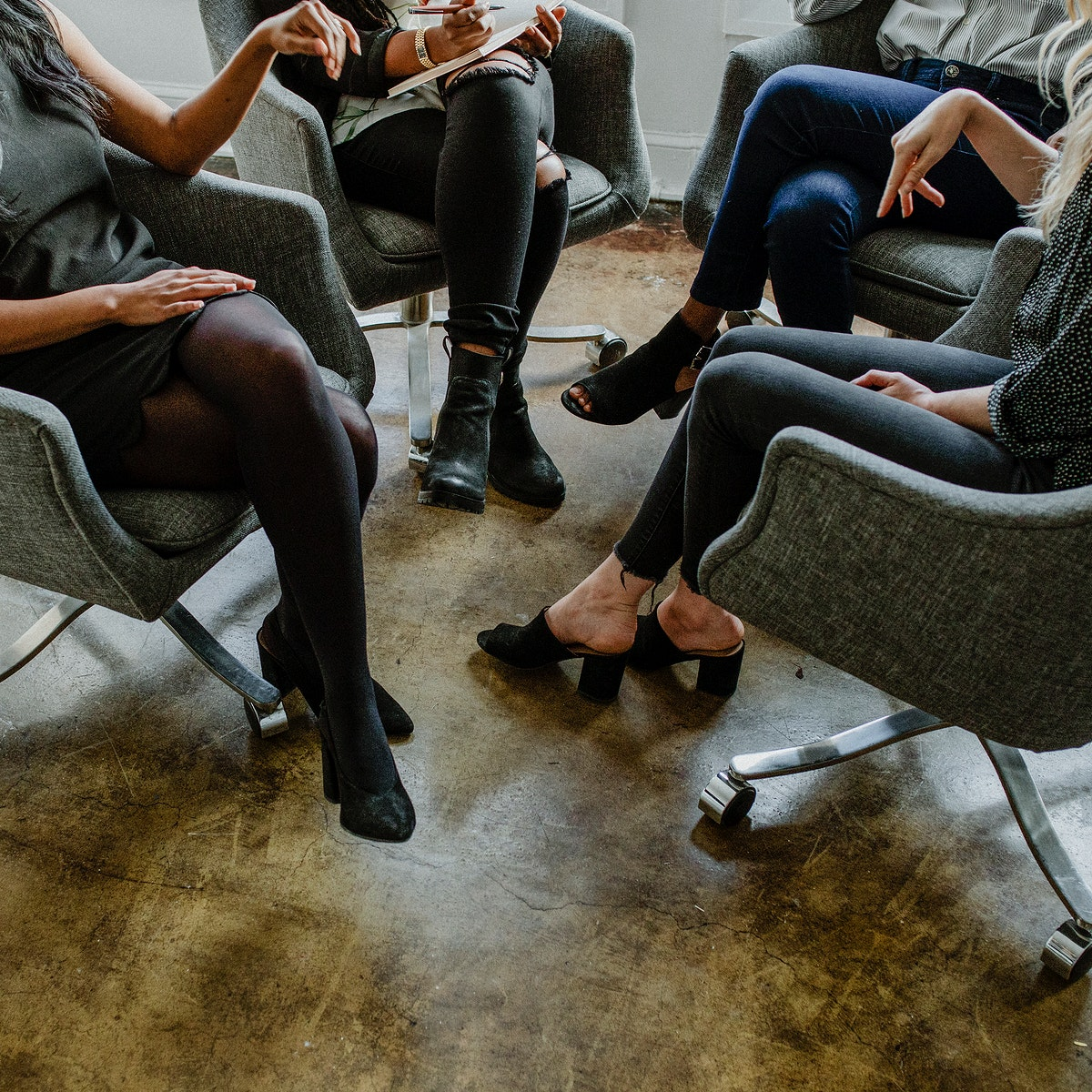 Businesswomen brainstorming in the office