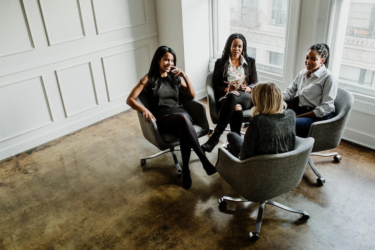 Fashion stylists having a meeting