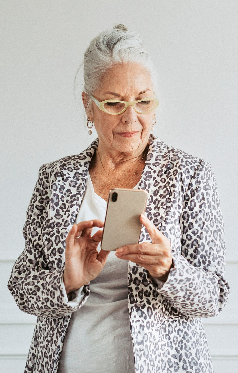 Senior woman using a smartphone